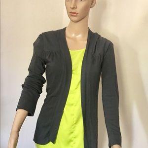 Textured Slub-Knit Open Cardigan